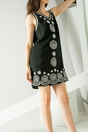 THML Clothing Embroidered Sleeveless Dress - Side cropped