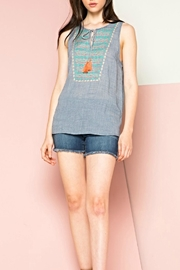 THML Clothing Embroidered Sleeveless Top - Product Mini Image