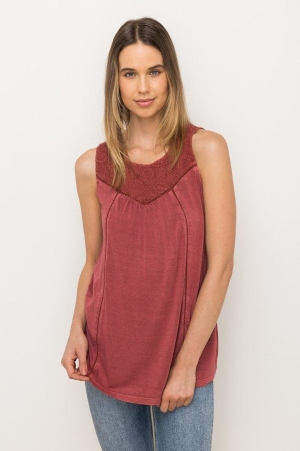 Mystree Embroidered Sleeveless Top - Main Image
