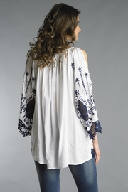 Tempo Paris Embroidered Slit Tunic - Front full body