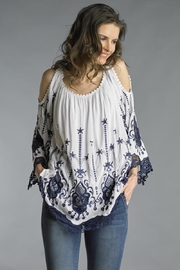 Tempo Paris Embroidered Slit Tunic - Front cropped