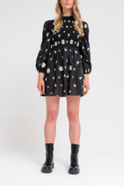 Another Girl Embroidered Smock Dress - Front cropped