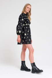 Another Girl Embroidered Smock Dress - Side cropped