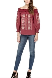 Joy Joy Embroidered Smock Top - Front full body