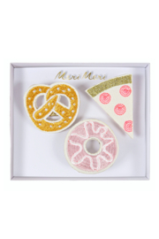 Meri Meri Embroidered Snack Brooches - Front cropped