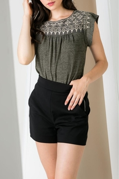 Shoptiques Product: Embroidered Ss Top
