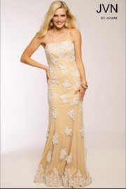 Jovani Embroidered Strapless Gown - Product Mini Image