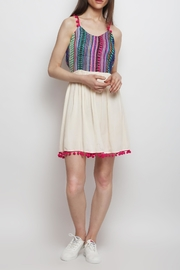 America & Beyond Embroidered Strappy Sundress - Product Mini Image