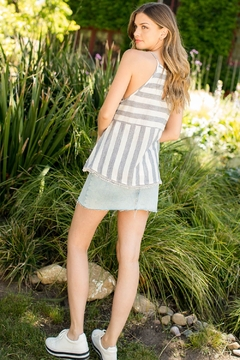 THML Clothing EMBROIDERED STRIPE TOP - Alternate List Image