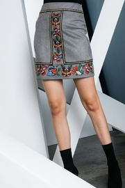 Thml Embroidered Suede Mini Skirt - Product Mini Image