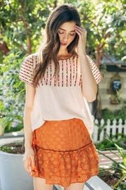 THML Clothing Embroidered Summer Blouse - Product Mini Image