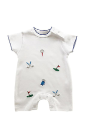 SAMMY & NAT Embroidered Summer Romper - Product Mini Image