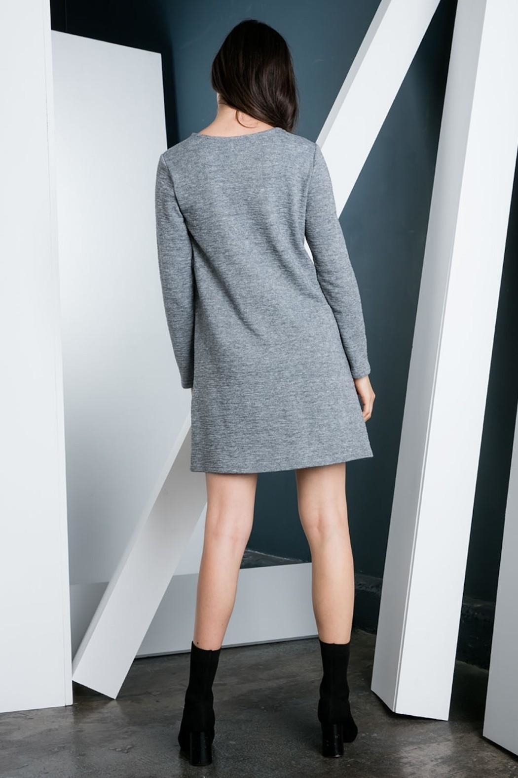 THML Clothing Embroidered Sweater Dress - Side Cropped Image