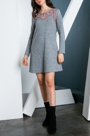 THML Clothing Embroidered Sweater Dress - Front cropped