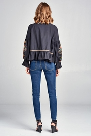 Velzera Embroidered Swing Jacket - Side cropped