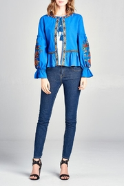 Velzera Embroidered Swing Jacket - Front cropped