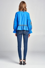 Velzera Embroidered Swing Jacket - Back cropped