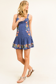 MONTREZ Embroidered Swing Mini Sundress - Side cropped