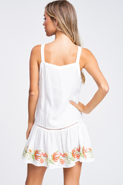 MONTREZ Embroidered Swing Mini Sundress - Back cropped