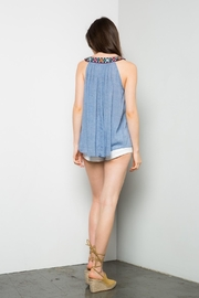 THML Clothing Embroidered Swing Tank - Back cropped
