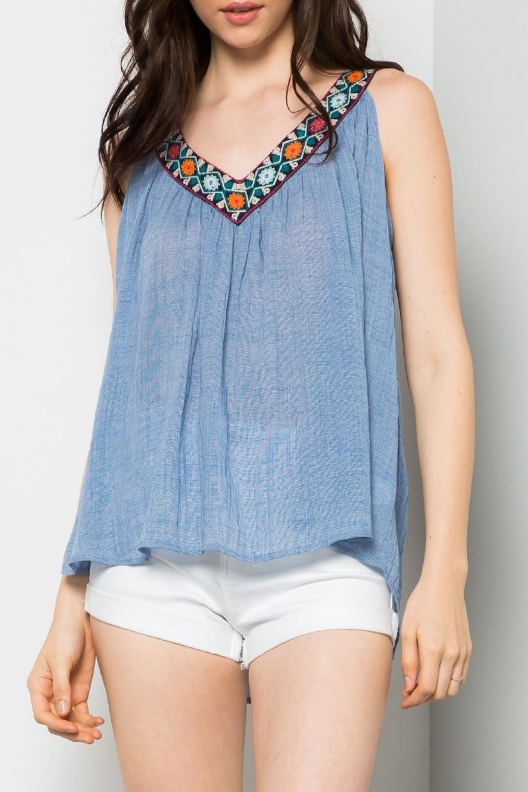 THML Clothing Embroidered Swing Tank - Front Full Image