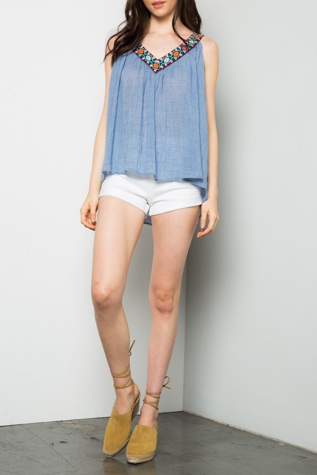 THML Clothing Embroidered Swing Tank - Main Image