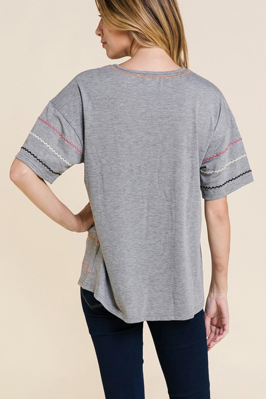 Polagram Embroidered T Shirt - Side Cropped Image