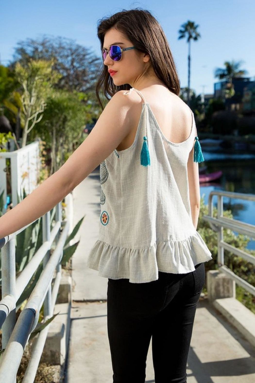 THML Clothing Embroidered Tank - Front Full Image