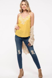 blu pepper  Embroidered Tank With Adjustable Straps - Side cropped