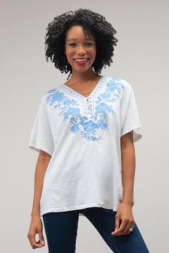 Shoptiques Product: Two-Tone Embroidered Tee