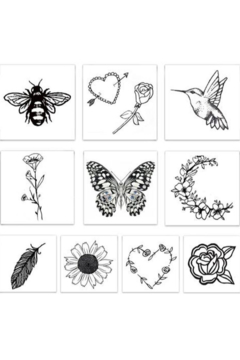 Inked by Dani Embroidered Temporary Tattoos - Alternate List Image