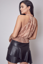 Do + Be  Embroidered tie back top - Front full body