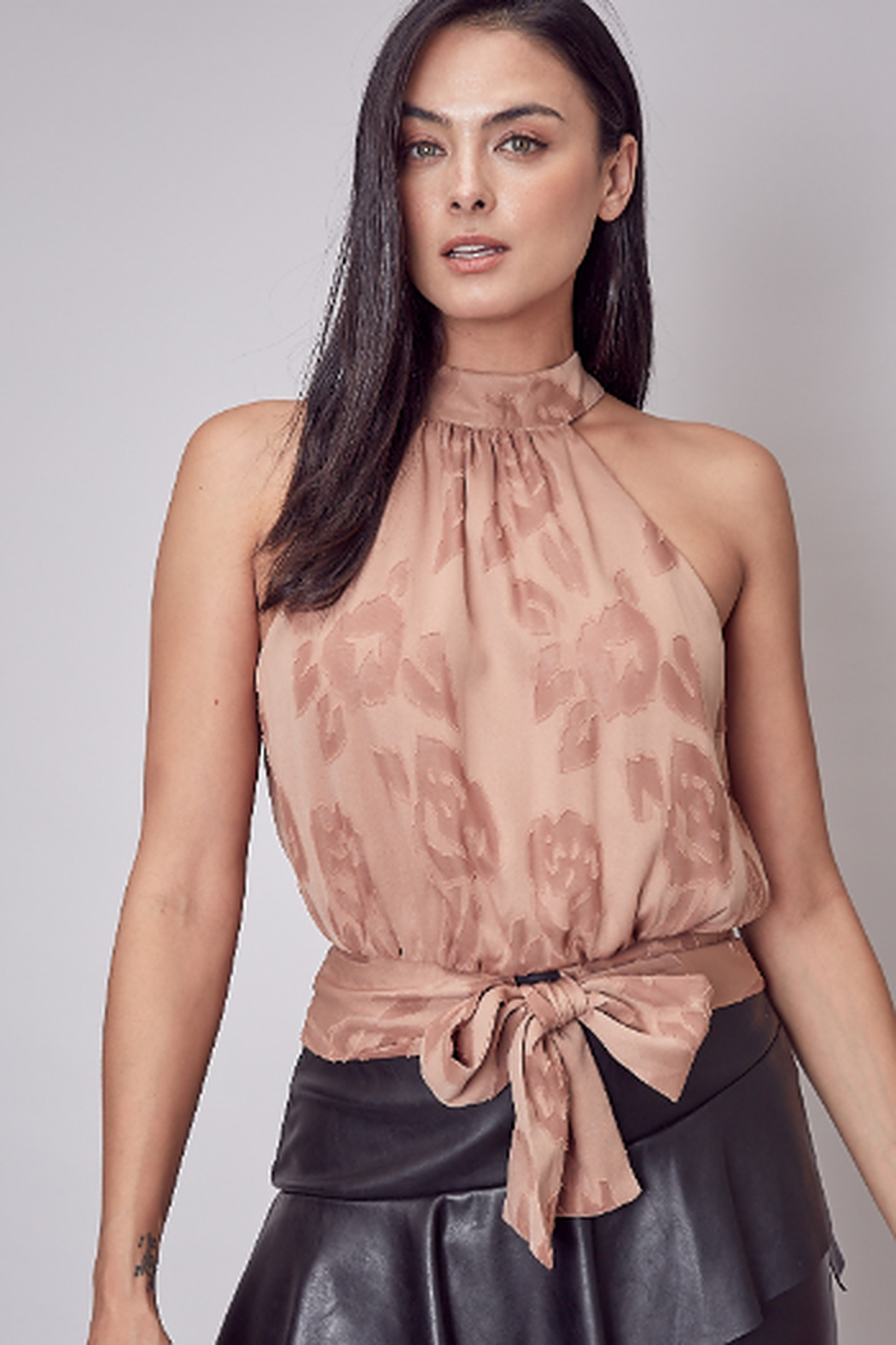 Do + Be  Embroidered tie back top - Main Image