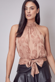 Do + Be  Embroidered tie back top - Front cropped