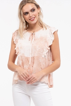 Shoptiques Product: Embroidered Tie Dye Top