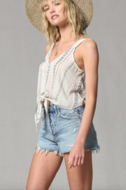 By Together Embroidered Tie Front Cami - Side cropped