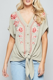 Andree by Unit Embroidered Tie-Front Tunic - Product Mini Image