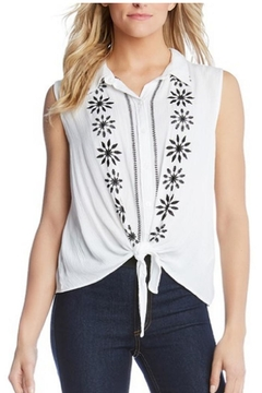 Karen Kane Embroidered Tie Front - Product List Image