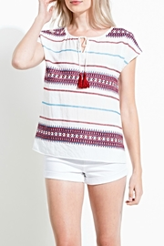 THML Clothing Embroidered Tie Top - Product Mini Image