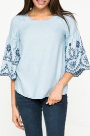 Downeast Basics Embroidered Top - Product Mini Image