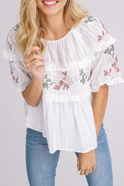Listicle Embroidered Top - Product Mini Image