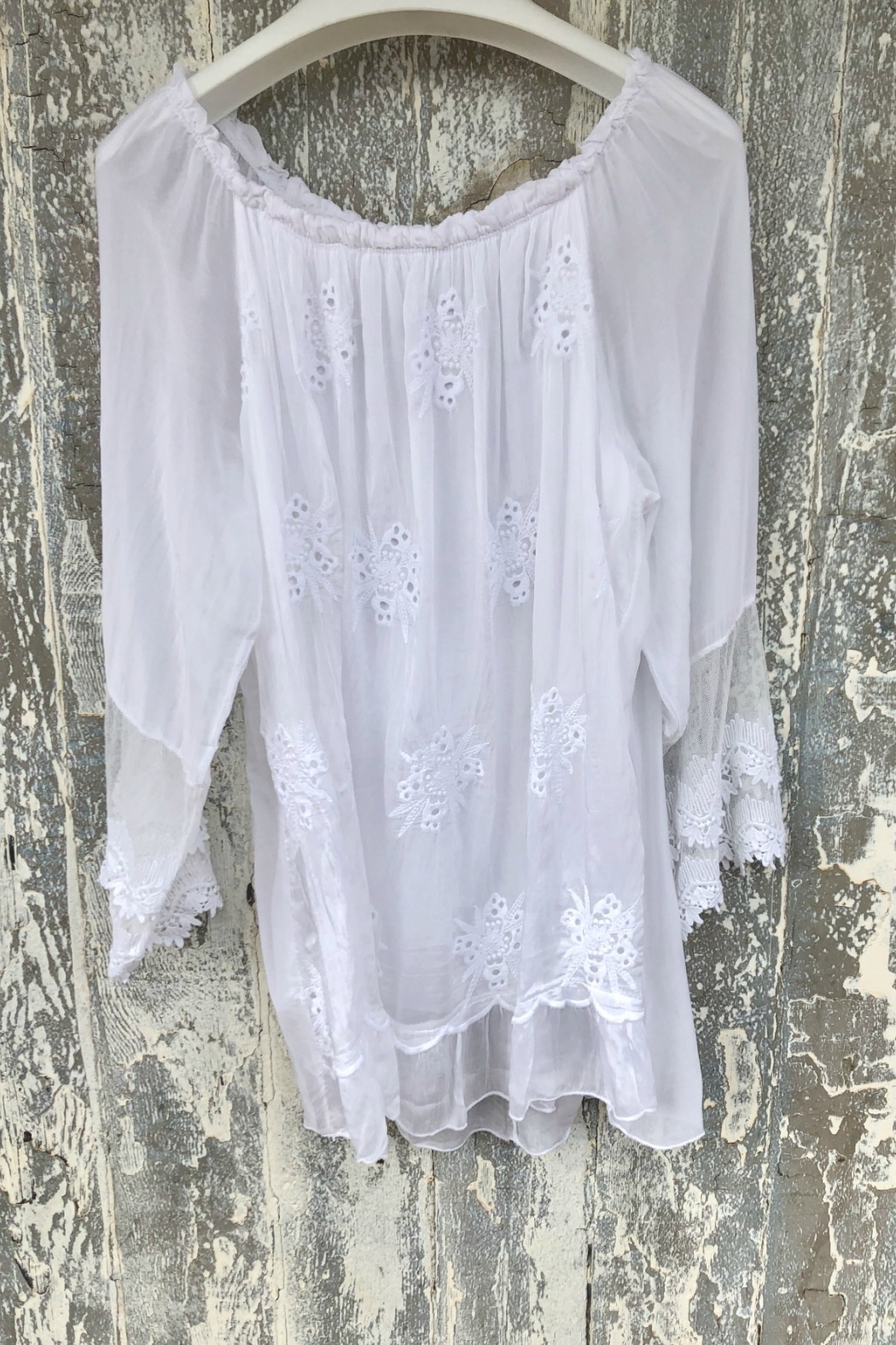 Tempo Paris Embroidered Top - Front Full Image