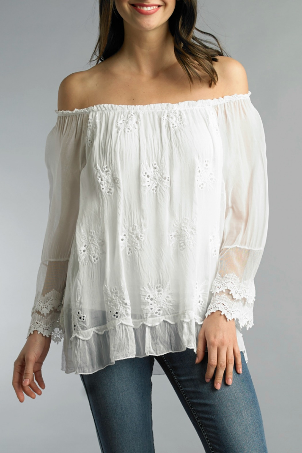 Tempo Paris Embroidered Top - Main Image