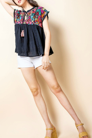 Thml Embroidered Top With Tassel - Product Mini Image