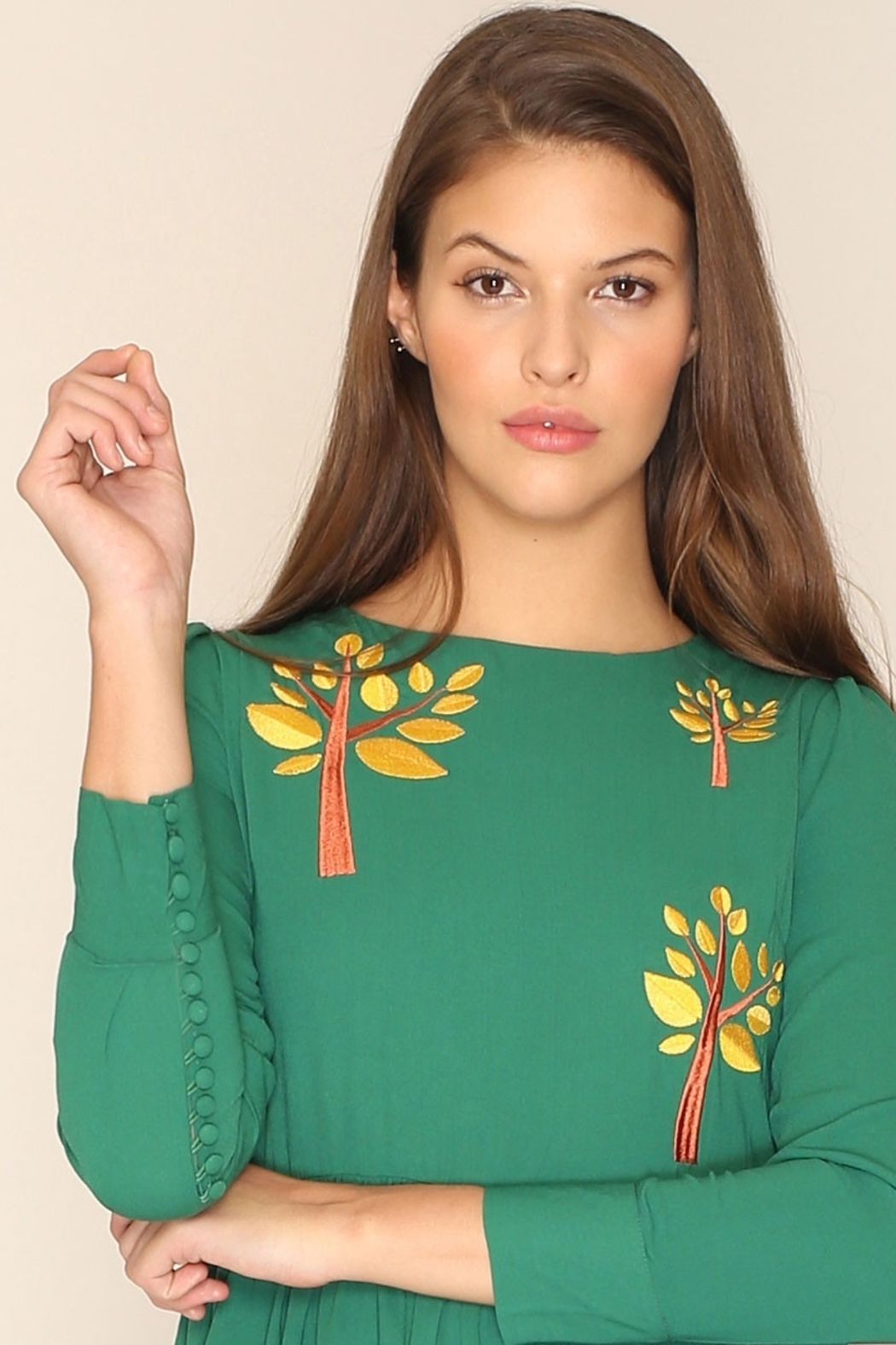 PepaLoves Embroidered Tree Maxi - Side Cropped Image