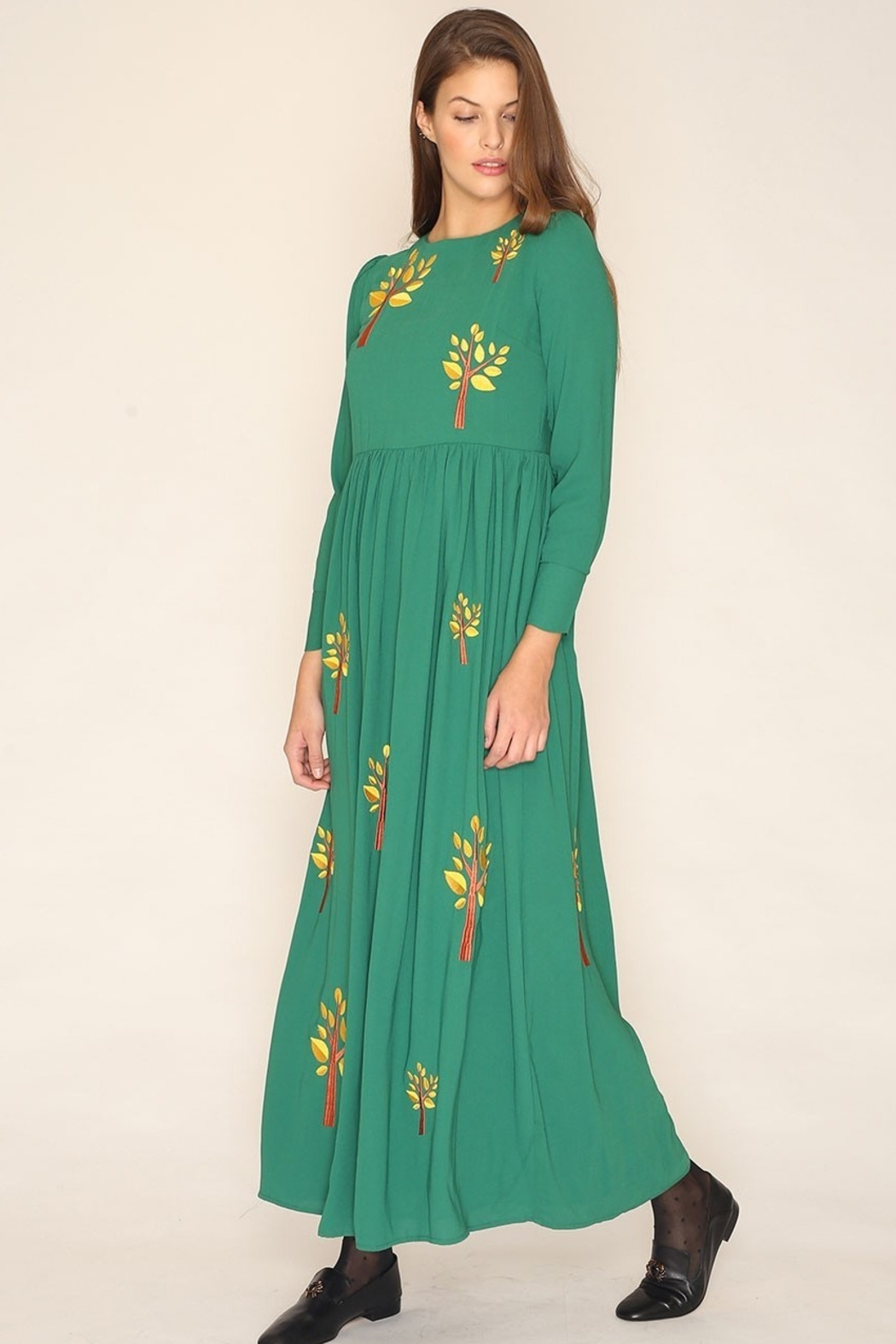 PepaLoves Embroidered Tree Maxi - Front Cropped Image