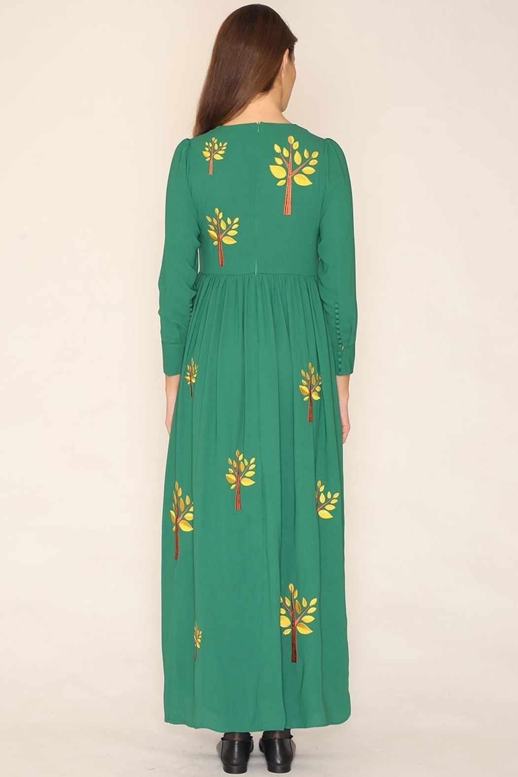 PepaLoves Embroidered Tree Maxi - Front Full Image
