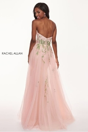 Rachel Allan Embroidered Tulle Strapless A-Line Prom Dress, Blush - Product Mini Image