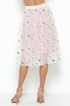 Esley Collection Embroidered Tulled Skirt - Alternate List Image