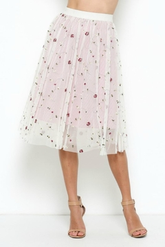 Shoptiques Product: Embroidered Tulled Skirt